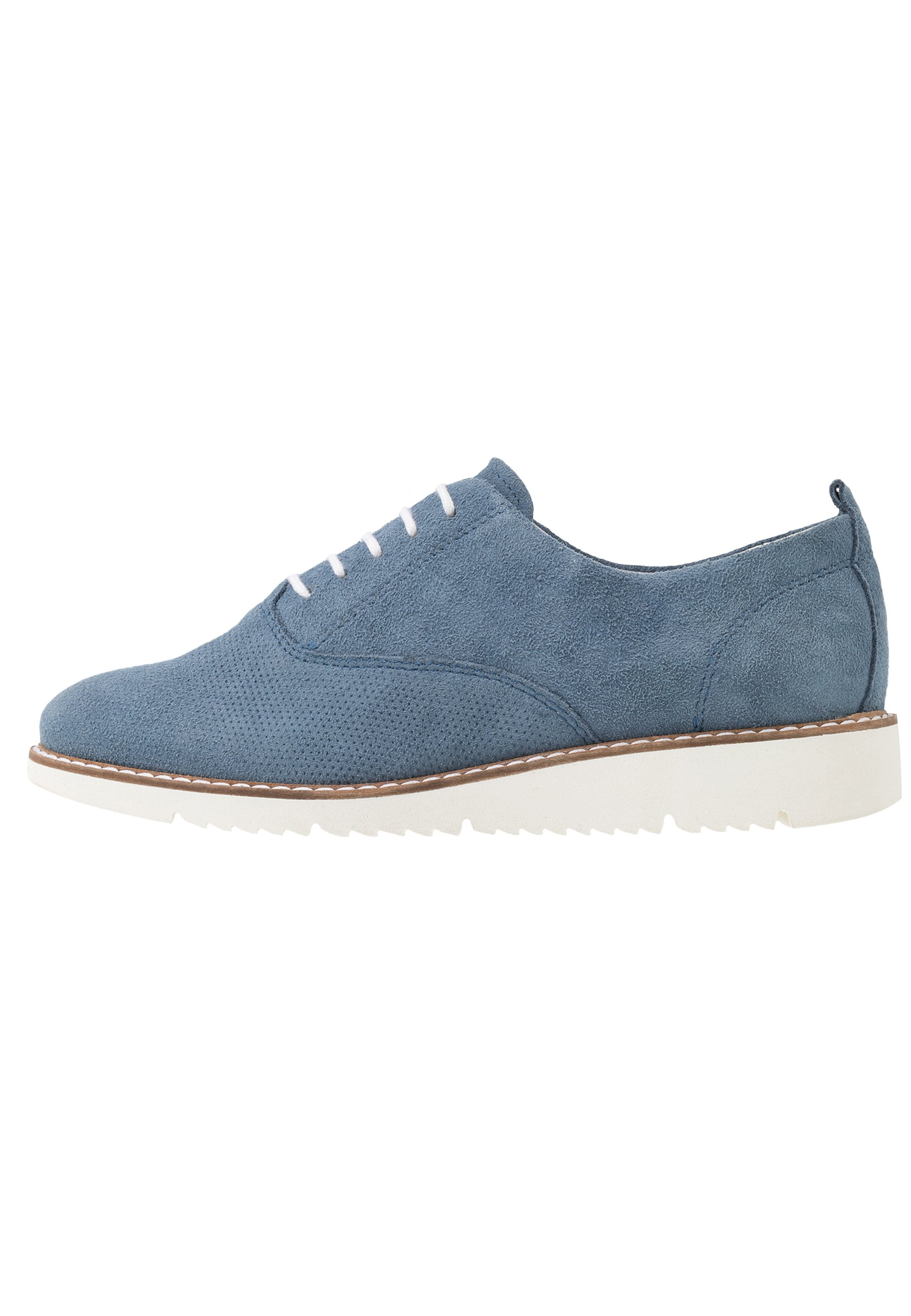 Anna Field LEATHER LACE UPS Snøresko blue Zalando.no
