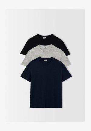 3 PACK - T-shirt basique - navy