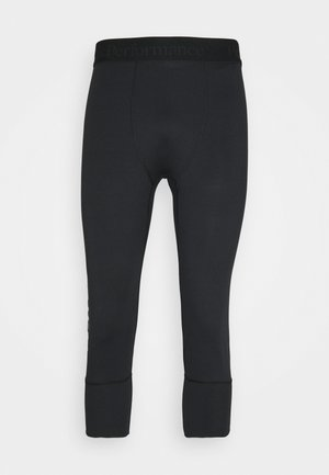 SPIRIT JOHNS - 3/4 sportsbukser - black
