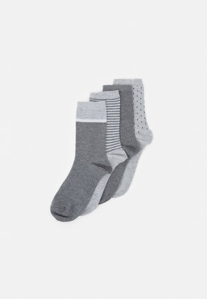 FASHION CREW SOCKS 4 PACK - Ponožky - grey