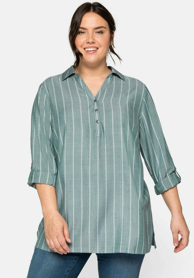 T-shirt à manches longues - opalgrün
