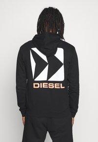 Diesel - BRANDON - Hoodie met rits - black - 2