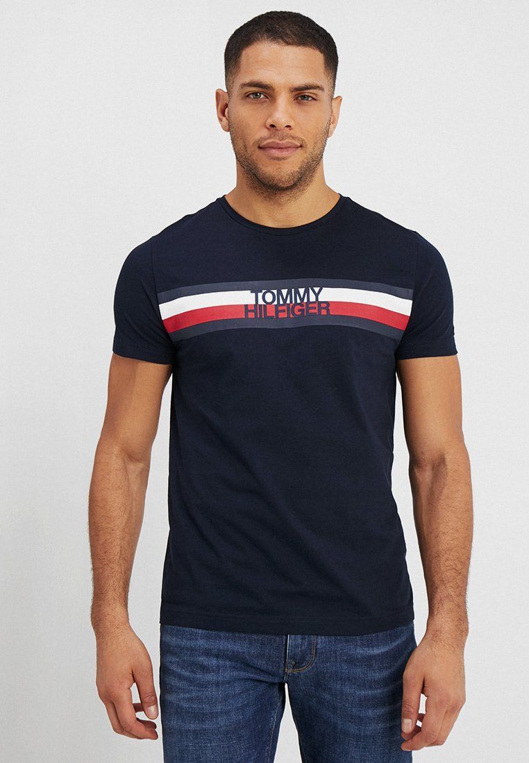 Tommy Hilfiger - LOGO TEE - T-shirts med print - blue