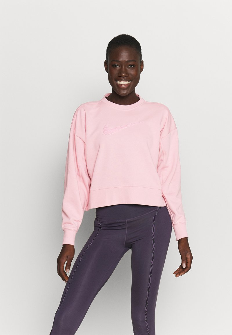 Nike Performance - DRY GET FIT CREW - Sweatshirt - pink glaze/light smoke grey