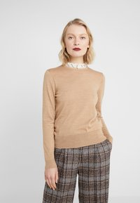 J.CREW - Pullover - heather camel ivory - 0