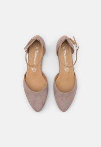 Tamaris - Ankle strap ballet pumps - taupe - 5