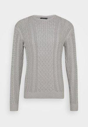 BELINSKI - Stickad tröja - mottled light grey