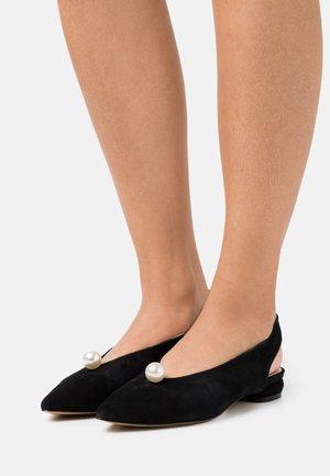 EXTRAVAGANZA - Slingback ballet pumps - black