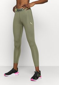 Puma - MODERN SPORTS BANDED - Tights - deep lichen green - 0