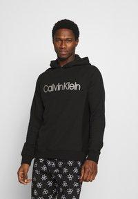 Calvin Klein Underwear - HOODIE - Hoodie - black - 0
