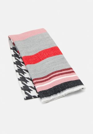 MODERN GEOS  - Scarf - dark rose/grey