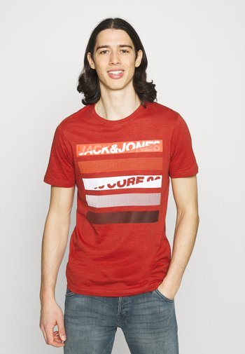 T-shirt con stampa - red ochre