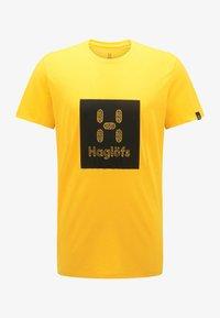 Haglöfs - Print T-shirt - pumpkin yellow - 4