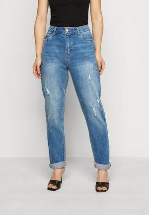NMOLIVIA  - Jeansy Straight Leg - medium blue denim