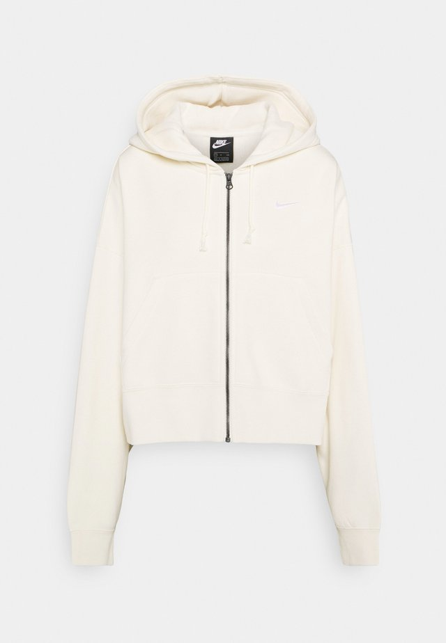 TREND - veste en sweat zippée - coconut milk