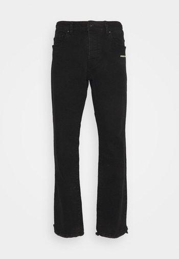 BAYAMO DISTRESSED ANKLE - Straight leg jeans - black
