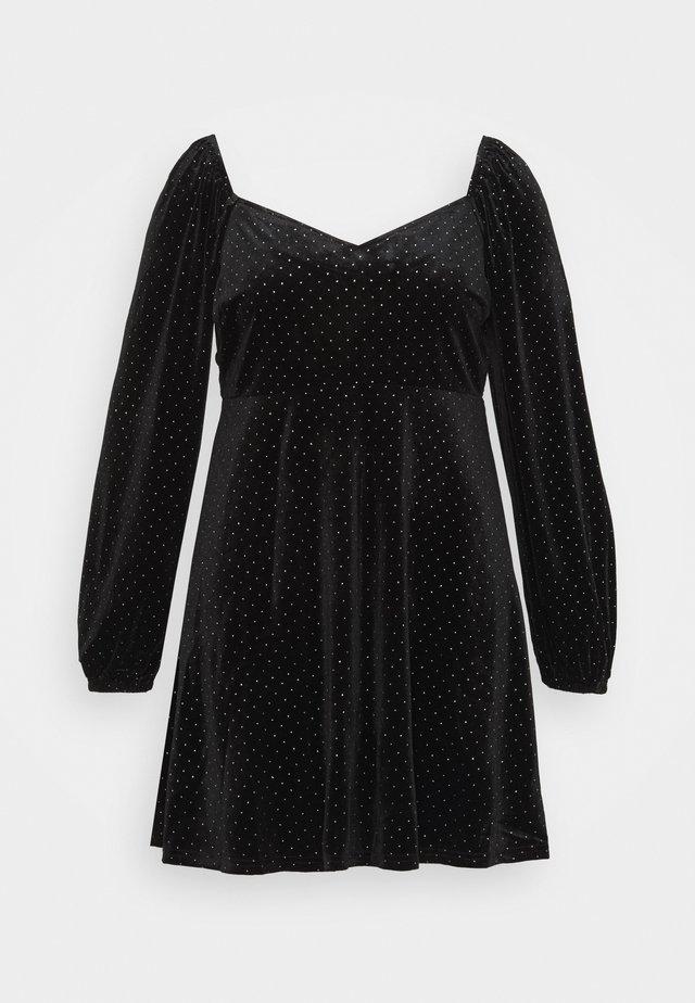 SWEATHEART BECK SKATER DRESS - Denní šaty - black
