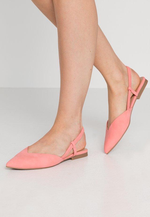 BRISA - Baleríny s otevřenou patou - bright pink