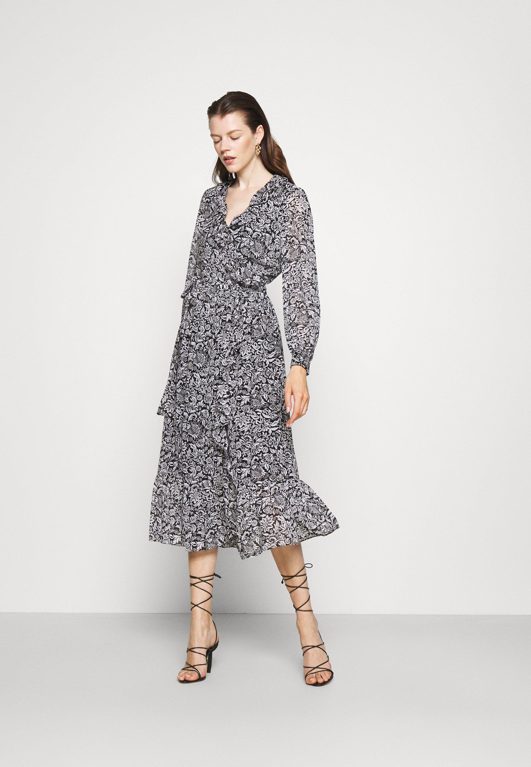 Women BICOLOR HIPPIE WRAP  - Maxi dress