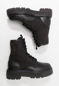 Tommy Jeans - FLATFORM BOOT - Platform ankle boots - black - 3