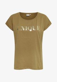 Cream - Print T-shirt - dull gold unique - 4