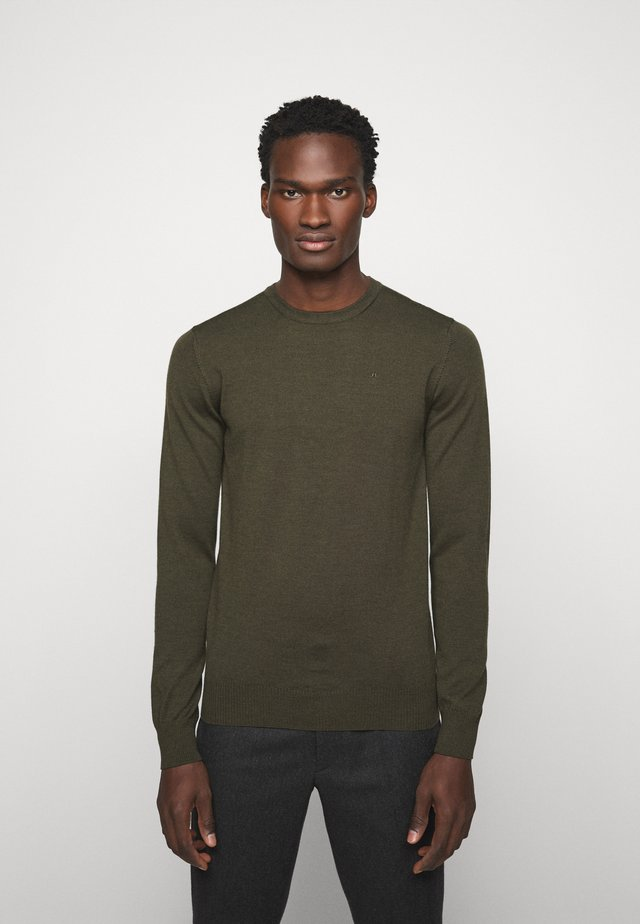 LYLE CREW NECK - Strikkegenser - moss green