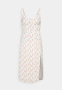 Abercrombie & Fitch - CINCH FRONT MIDI DRESS - Day dress - white - 4