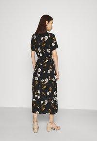 Vero Moda - VMMELLIE LONG SHIRT DRESS - Shirt dress - black/mellie - 2
