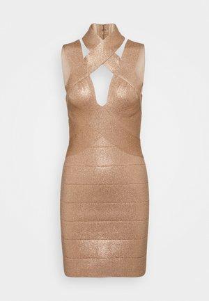 BANDAGE MINI DRESS - Vestito estivo - rose gold