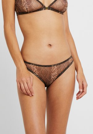 MELINA BRIEFS - Underbukse - dark brown/black