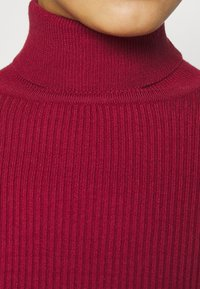 Farm Rio - PUFF SLEEVE TURTLENECK - Jumper - burgundy - 5