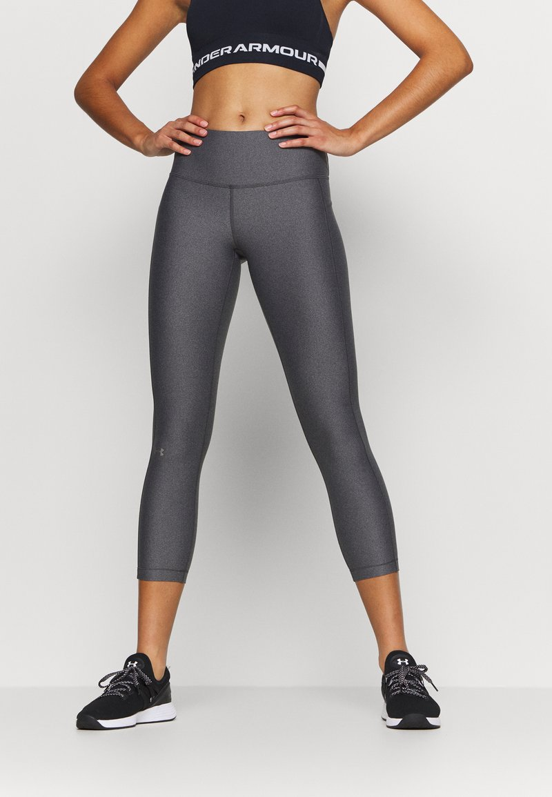 Under Armour - HI RISE CROP - Leggings - charcoal light heather