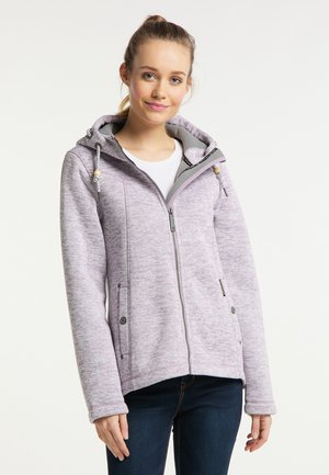 Fleece jacket - rauchlila melange