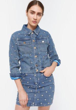 JEANSJACKE MIT PERLEN. 00805610 - Kurtka jeansowa - blue