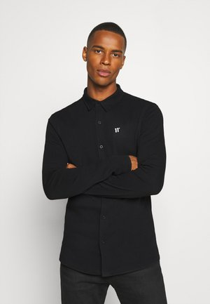 TEXTURED MUSCLE FIT  - Camicia - black