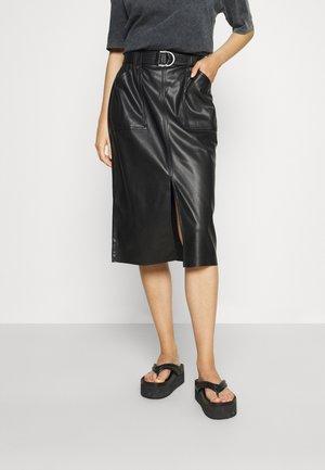 ONLALBA LONG SKIRT - A-line skirt - black