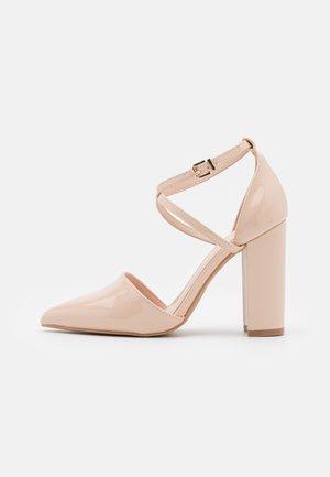 WIDE FIT KATY - High heels - nude