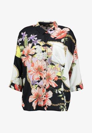 Button-down blouse - antique white chain flower print