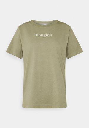 T-shirt print - light khaki
