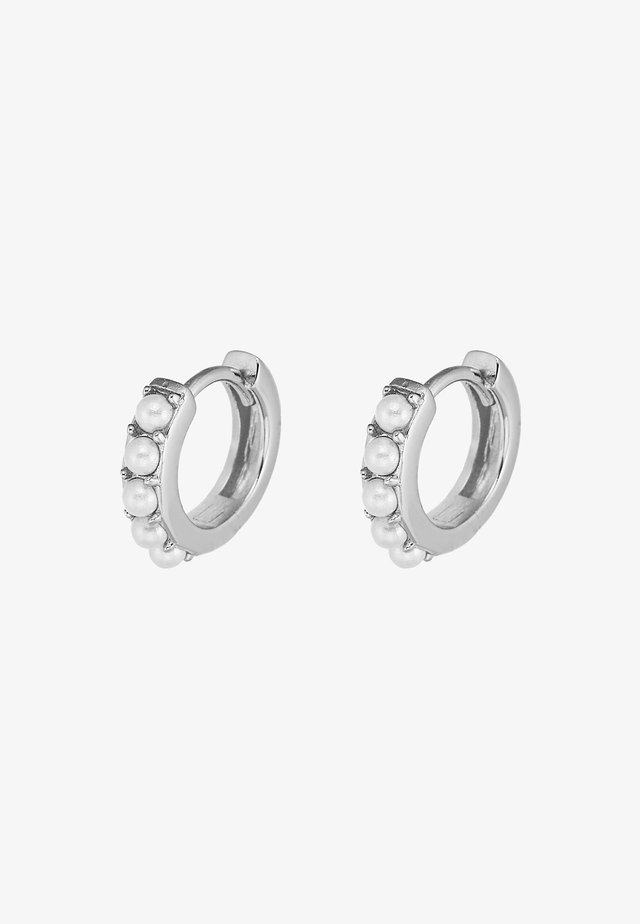 HUGGIE HOOP - Earrings - silver-coloured