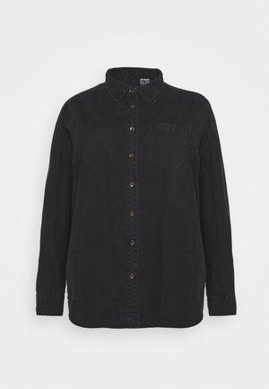 CURVE LONGLINE  - Button-down blouse - washed black