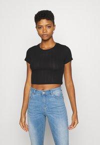 Even&Odd - 3 PACK - T-shirt basic - black/mottled green/white - 4