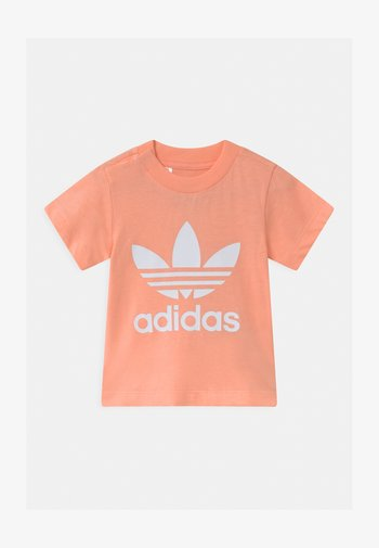 TREFOIL TEE UNISEX - Print T-shirt - glow pink/white