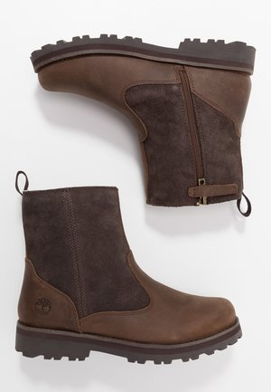 COURMA LINED BOOT - Nauhalliset nilkkurit - dark brown