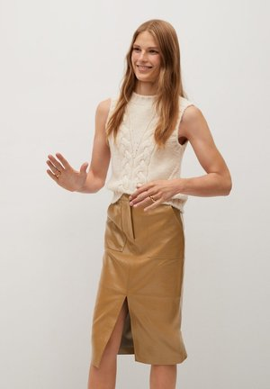 BOLI - Pencil skirt - beige