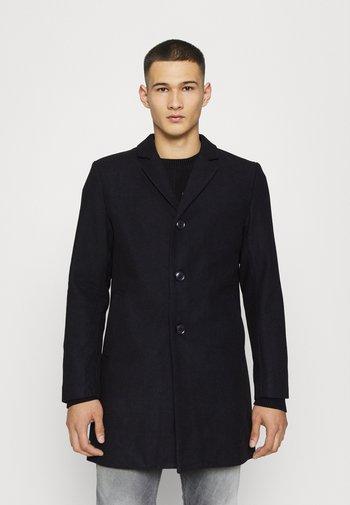 CLASSIC BUTTON OVERCOAT - Classic coat - black