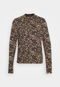 Cream - DIBA TURTLENECK - Long sleeved top - beige/black - 0