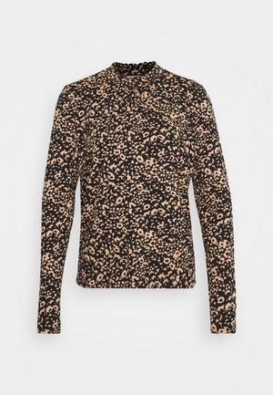DIBA TURTLENECK - Long sleeved top - beige/black