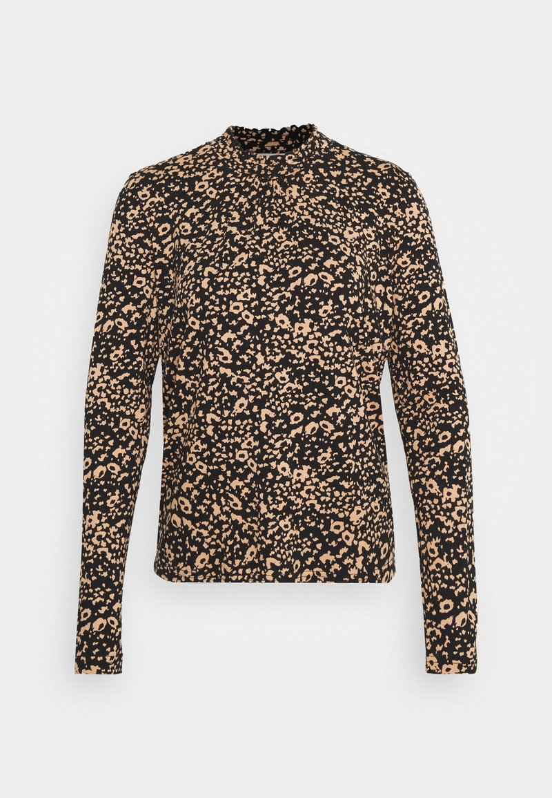 Cream - DIBA TURTLENECK - Long sleeved top - beige/black
