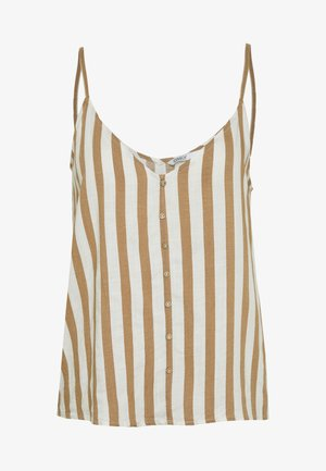 ONLASTRID SINGLET - Top - cloud dancer/beige